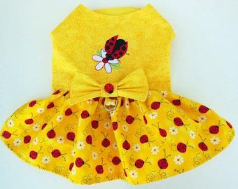 Ladybug Embroidery Harness-Dress.