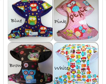 Owl Comfort Soft Dog Harness - Made to order-