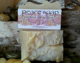 patchouli orange clove peace soap