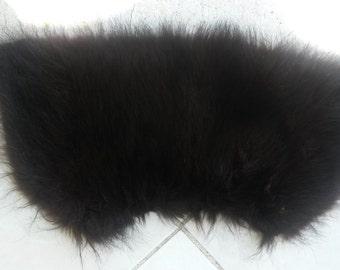 Cute real fur collar