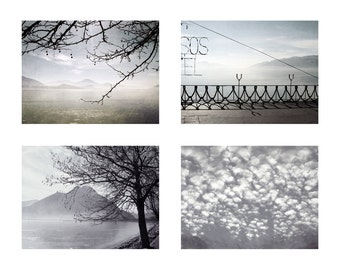 Digital download Black and white photography landscape photography Set of four Gray photos