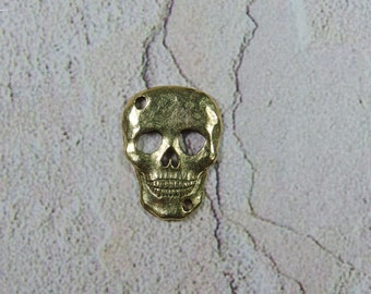 Antique gold color lead free pewter charm
