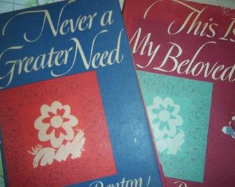 erotica verse books NEVER GREATER NEED, This My Beloved 2 books, 1952 printing erotic Imagery Verses vintage Poetry Prose Walter Benton