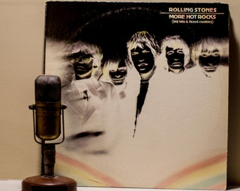 "The Rolling Stones Vinyl Record Album 1960s British Classic Rock Sleazy Blues 2LP,""More Hot Rocks: Big Hits And Fazed Cookies""(1972 London)"