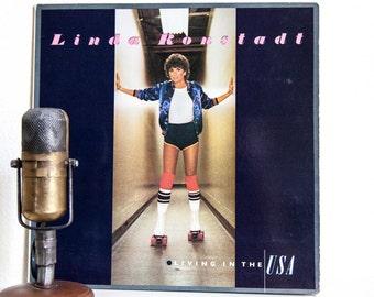 "ON SALE Linda Ronstadt Vinyl Record Album 1970s Pop Rock and Roll Vocals Singer Soft Light Rock LP,""Living In The Usa""(1978 Asylum Records)"