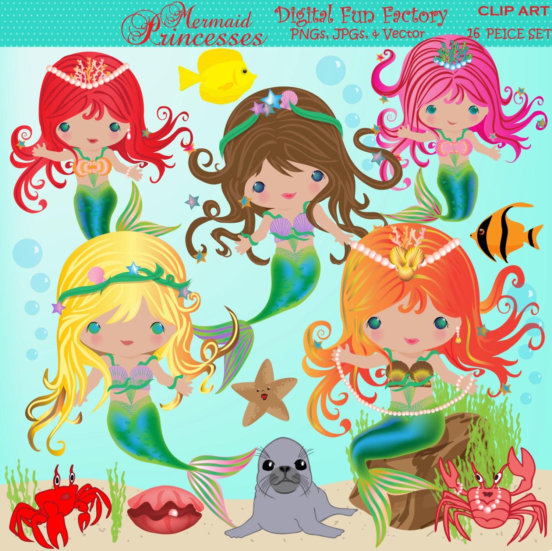 Mermaid Clip art: Princess Mermaid Clip Art