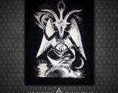 Baphomet Sabbatic Goat - Black Canvas Patch