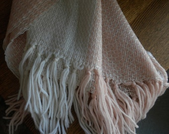 Hand Woven Shawl/ Carriage Blanket
