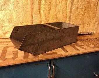 vintage metal hardware drawer nail bin