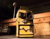 Taxi Tony Taxi Tony recycled yellow Robot bank