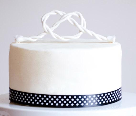 Wedding Cake Topper The Knot Cake Topper Custom Personalized cake topper.