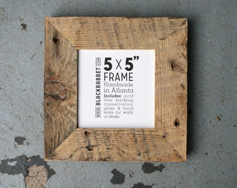 Natural Reclaimed Pine Picture Frame (5x5)