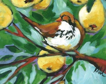 8x8 print - Partridge in Pear Tree