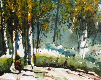 Fall In The Wilderness - Original Watercolor Painting