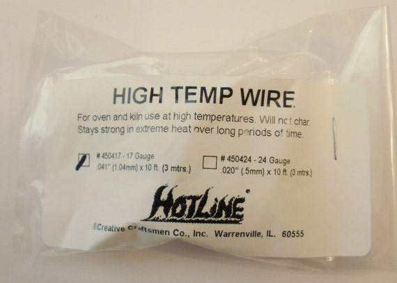 17 Gauge High Temp Wire for Glass Fusing