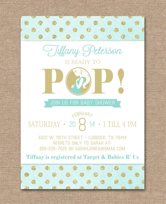 printable baby shower invitation ready to pop gender