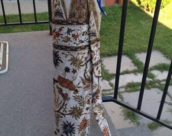 Cotton Embroidery Yoga Bag.