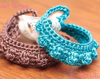 CROCHET PATTERN, Crochet Bracelet Pattern, Crochet Jewelry Pattern - Instant Digital Download (15)