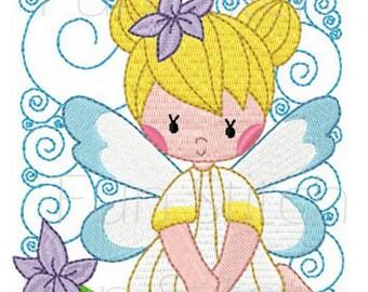 set of 10 fairy angel blocks machine embroidery design