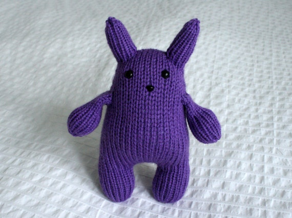 Squishy Bunny Etsy : Purple Squishy Bunny