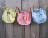 Screen printed Bibs- Pick your print