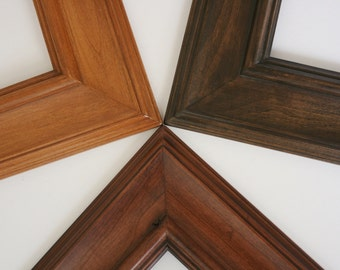 Sizes 12x16 to 16x20 Picture Frame / Knotty Alder Wood / Palermo Style