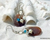 Sea Glass - Beachglass Earrings -  Lake Erie