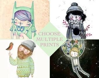 DISCOUNT Mini Prints (postcard) Multiples - Choose Quantity