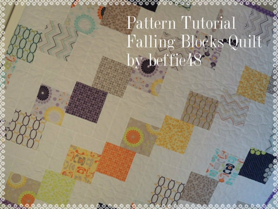 Falling Blocks Quilt Pattern Tutorial Easy to Make Uses : falling charm quilt - Adamdwight.com