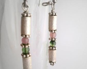 Sterling Silver Earrings Tourmaline