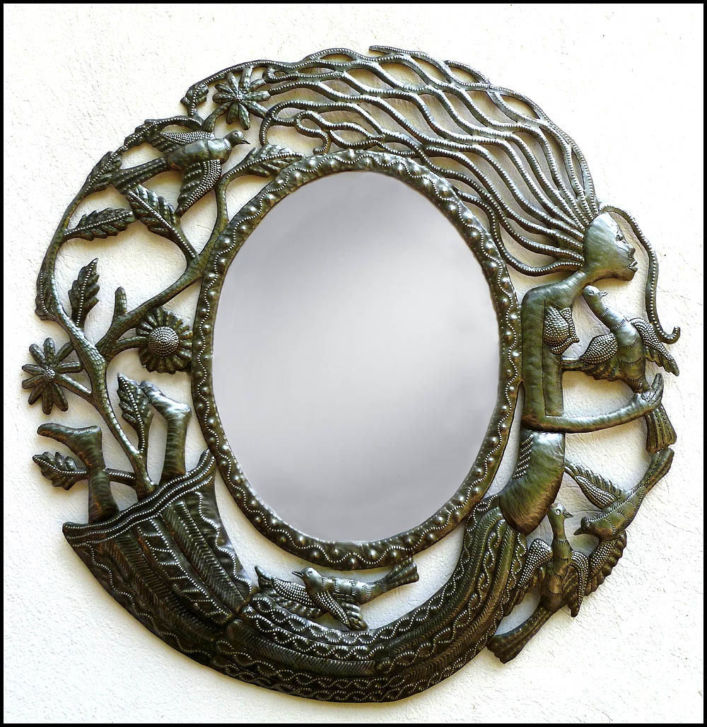 Metal wall art mirrors
