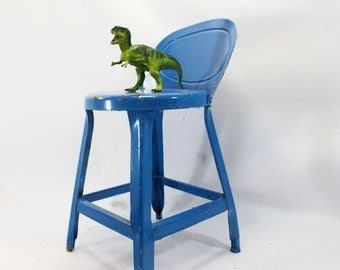 Metal Chair, Child's Chair, Vibrant Blue