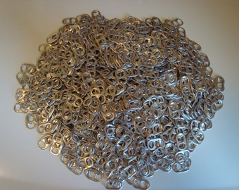 100 Decurled Recycled Aluminum Pull Tabs Pop Can Soda Tops  CRAFTING