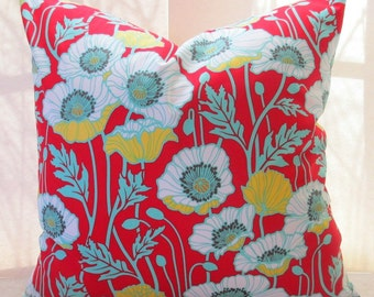 ONE LEFT 12 X 20 pillow cover Joel Dewberry Red Poppy Fabric both sides