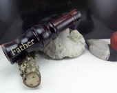 Short Reed goose Call Cocobolo wood from South america  laser engraved #207