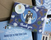 Thank You Notes : Custom Illustrated Wedding Invitations Add-on
