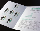 Bridal Party Diagram Programs (Full-body) : Custom Illustrated