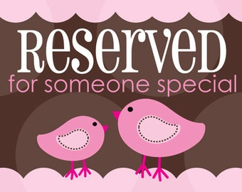 Reserved Listing for BuggyCakes