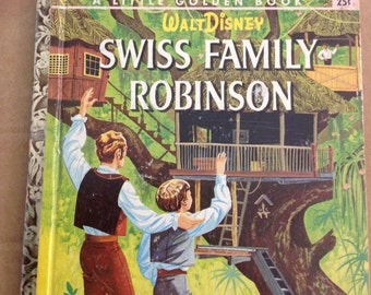 Vintage Little Golden Book. Walt Disney Swiss Family Robinson 1961 First A Edition