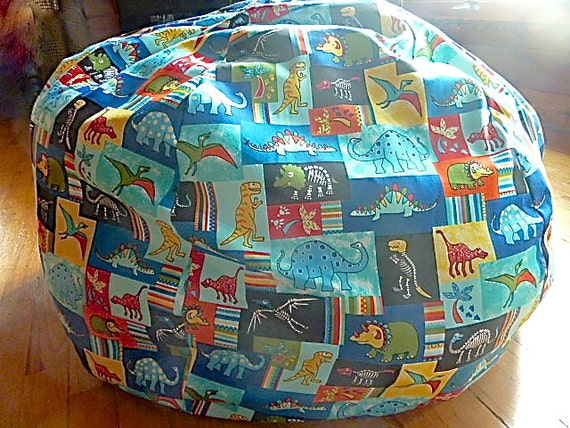 Multi Colored Dinosaur Bean Bag Chair Cover By