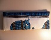 Eye Pillow - Blue & White Elephant Batik