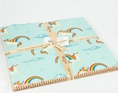 """Unicorns & Rainbows 10"""" Squares Stacker by Doohikey Designs for Riley Blake, 21 pieces"""