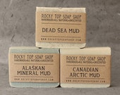 Mud Soap Trio - Mud Soaps, Clay Soaps, Soap Set