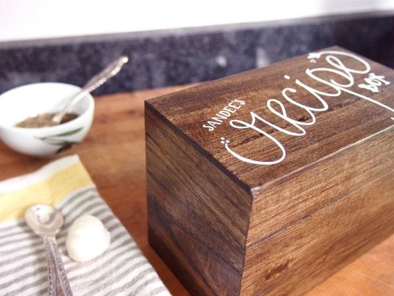 Recipe Box, Personalized Recipe Box, Custom recipe box (vinyl)