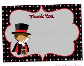 PRINTABLE Boy Magic Show Thank You Cards #550