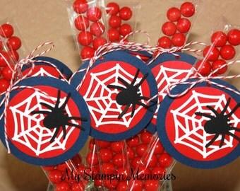 Set of 15 DIY Spiderman Web Party Favor Treat Bags
