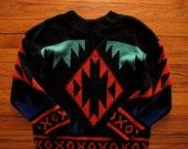 women's vintage patterned sweater
