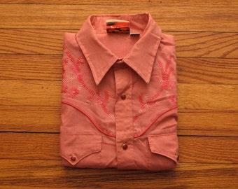 mens vintage Cowboy Joe western shirt