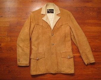 mens vintage Oakbrook Sportswear western suede sport coat