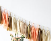 DIY Tassel Garland Kit - Peach, Off White, Kraft, Metallic Gold : Nectar